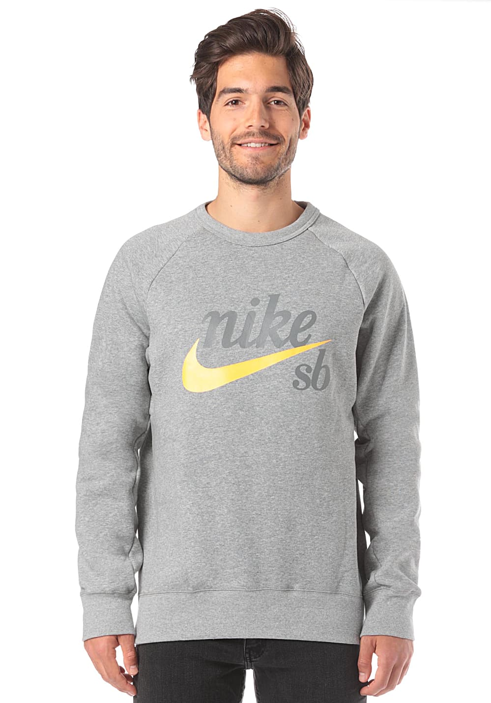 reputable site outlet online special section NIKE SB Top Icon Crew GFX Heritage - Sweatshirt für Herren - Grau