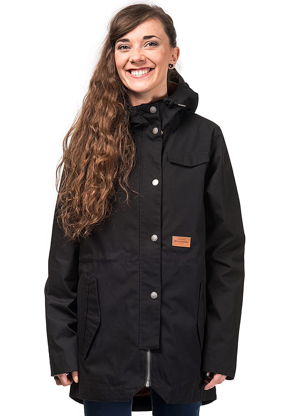 WearColour Range Jacke für Damen Schwarz Planet Sports
