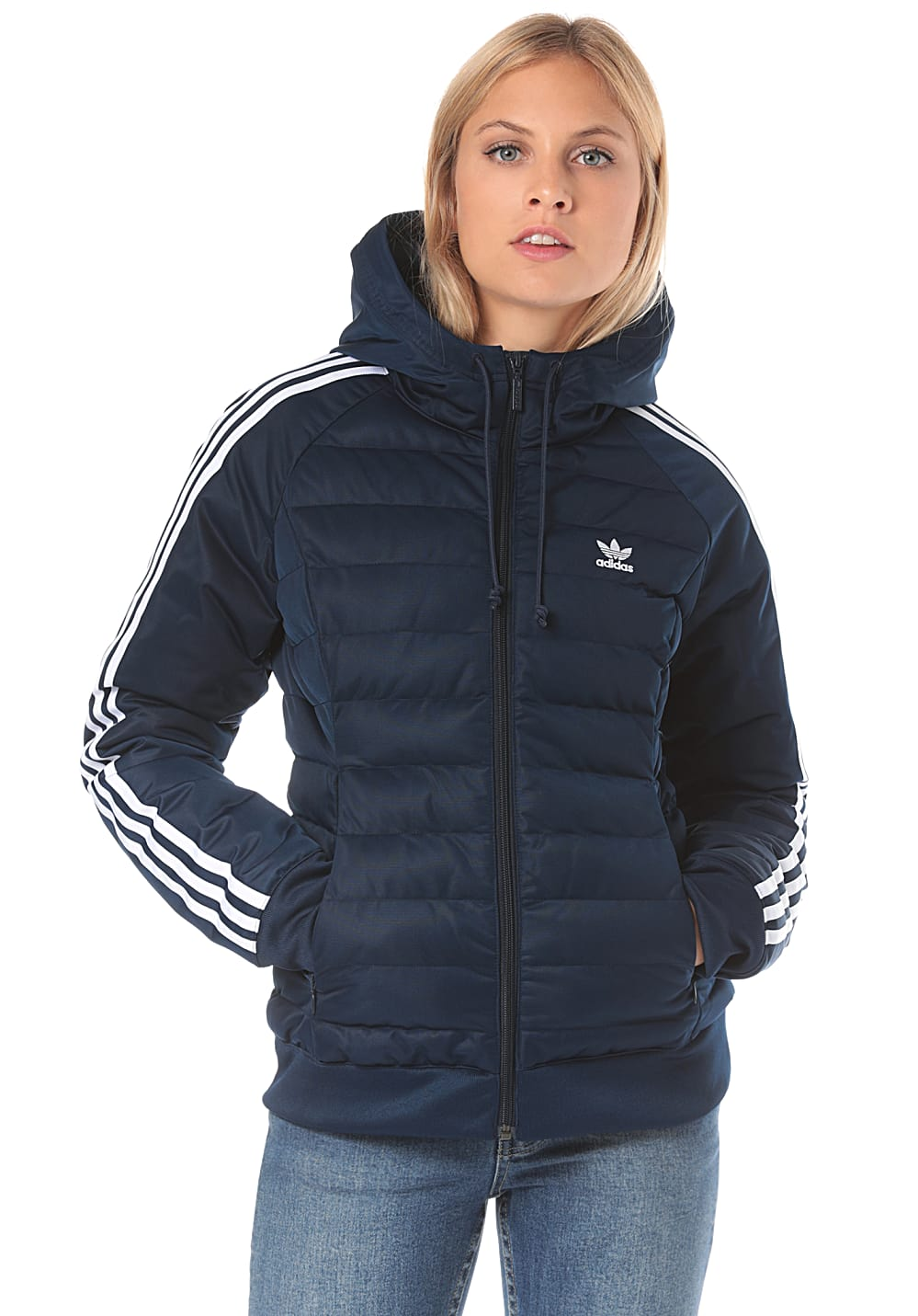 large discount picked up best wholesaler adidas Originals Slim - Jacke für Damen - Blau