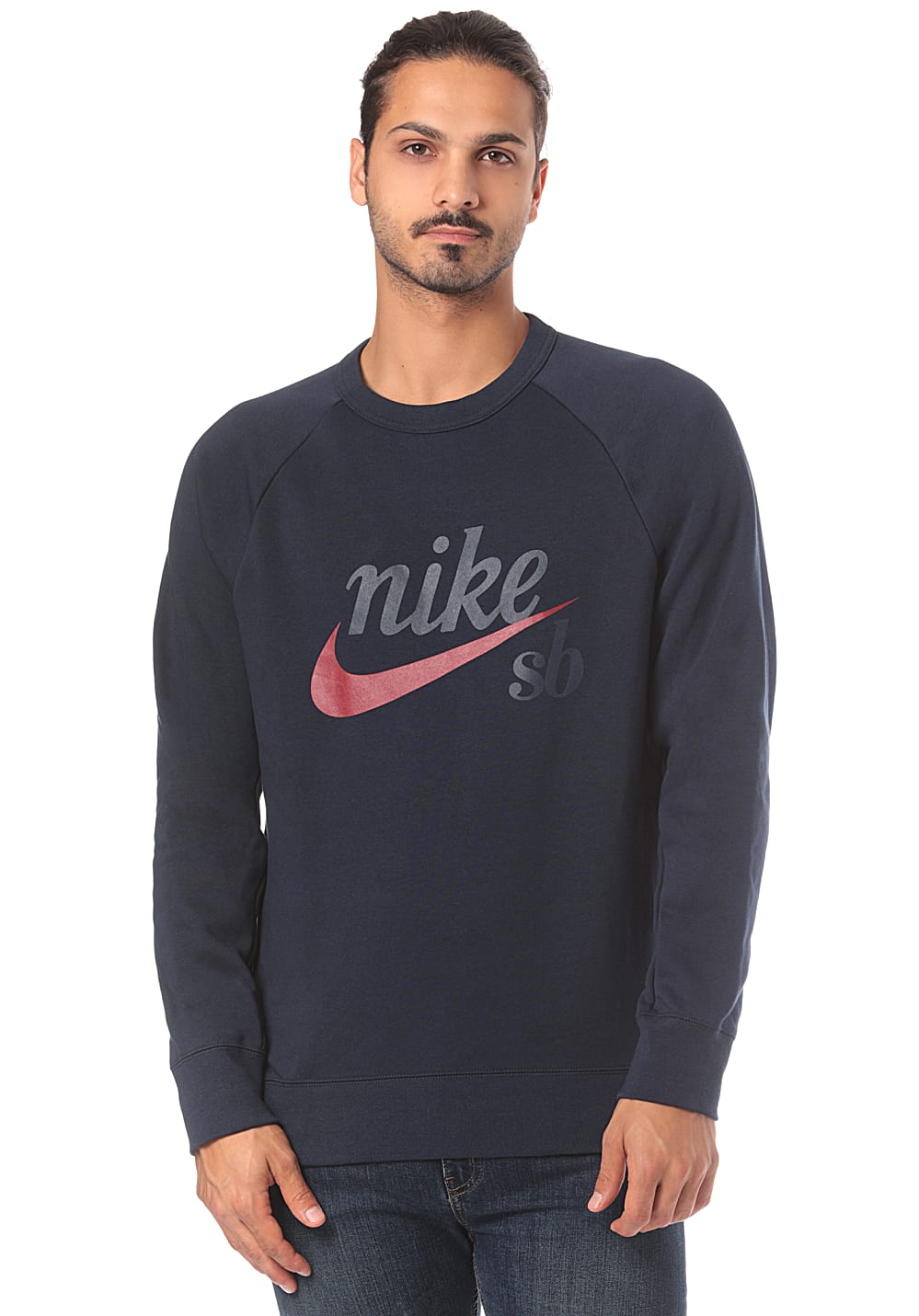 cheapest price big discount designer fashion NIKE SB Top Icon Crw Gfx Hrtg - Sweatshirt für Herren - Blau ...