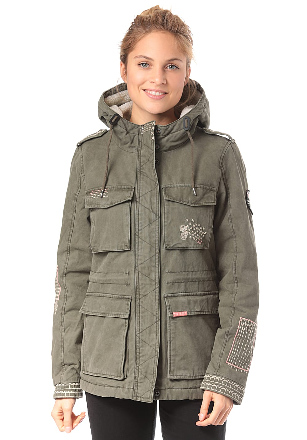 SUPERDRY Rookie Dakota Jacke für Damen Grün Planet Sports