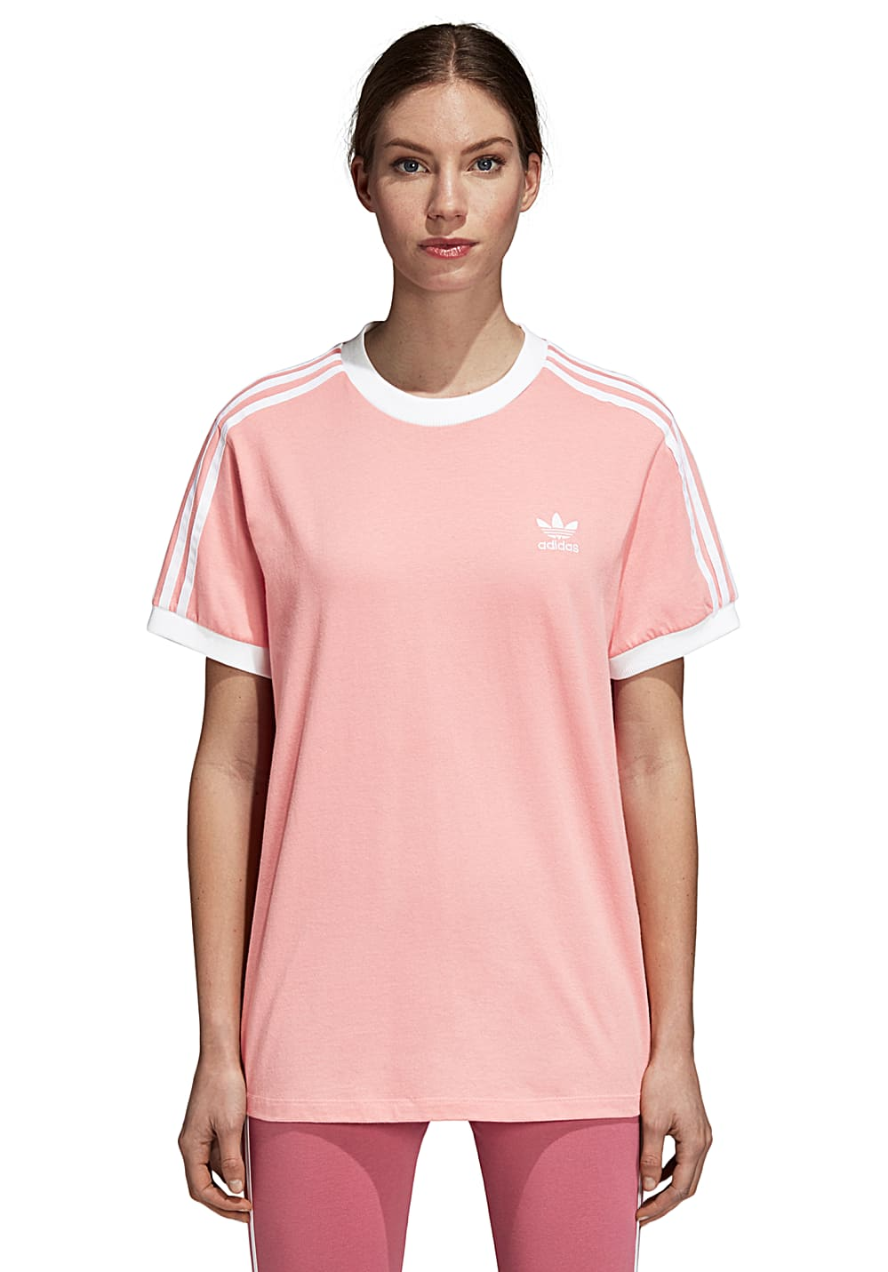 beauty save off entire collection adidas Originals 3 Stripes - T-Shirt für Damen - Pink
