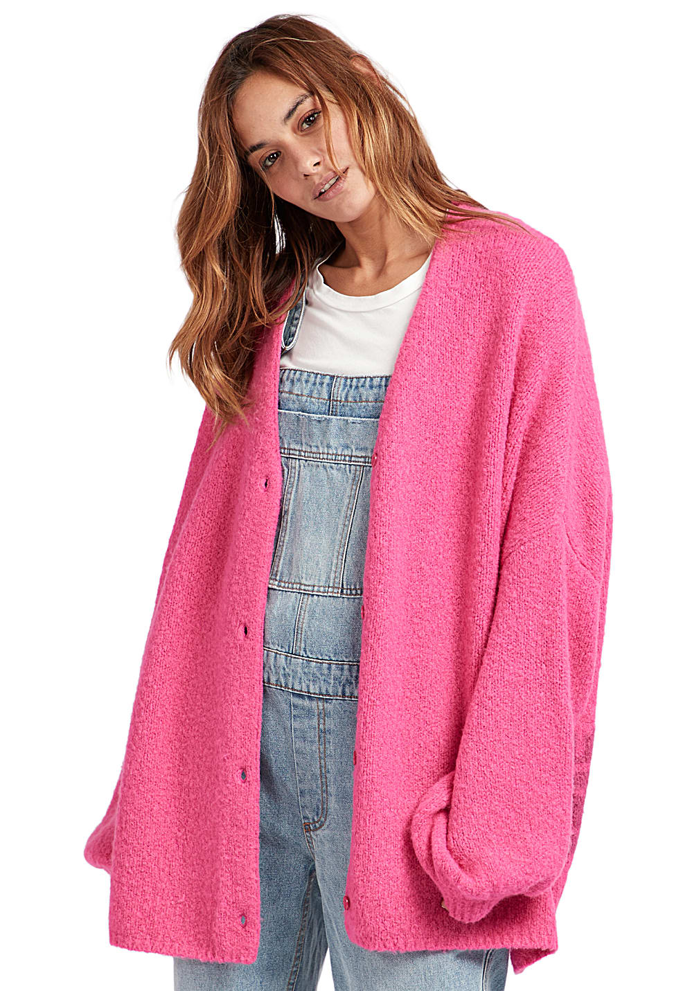 pinke strickjacke damen