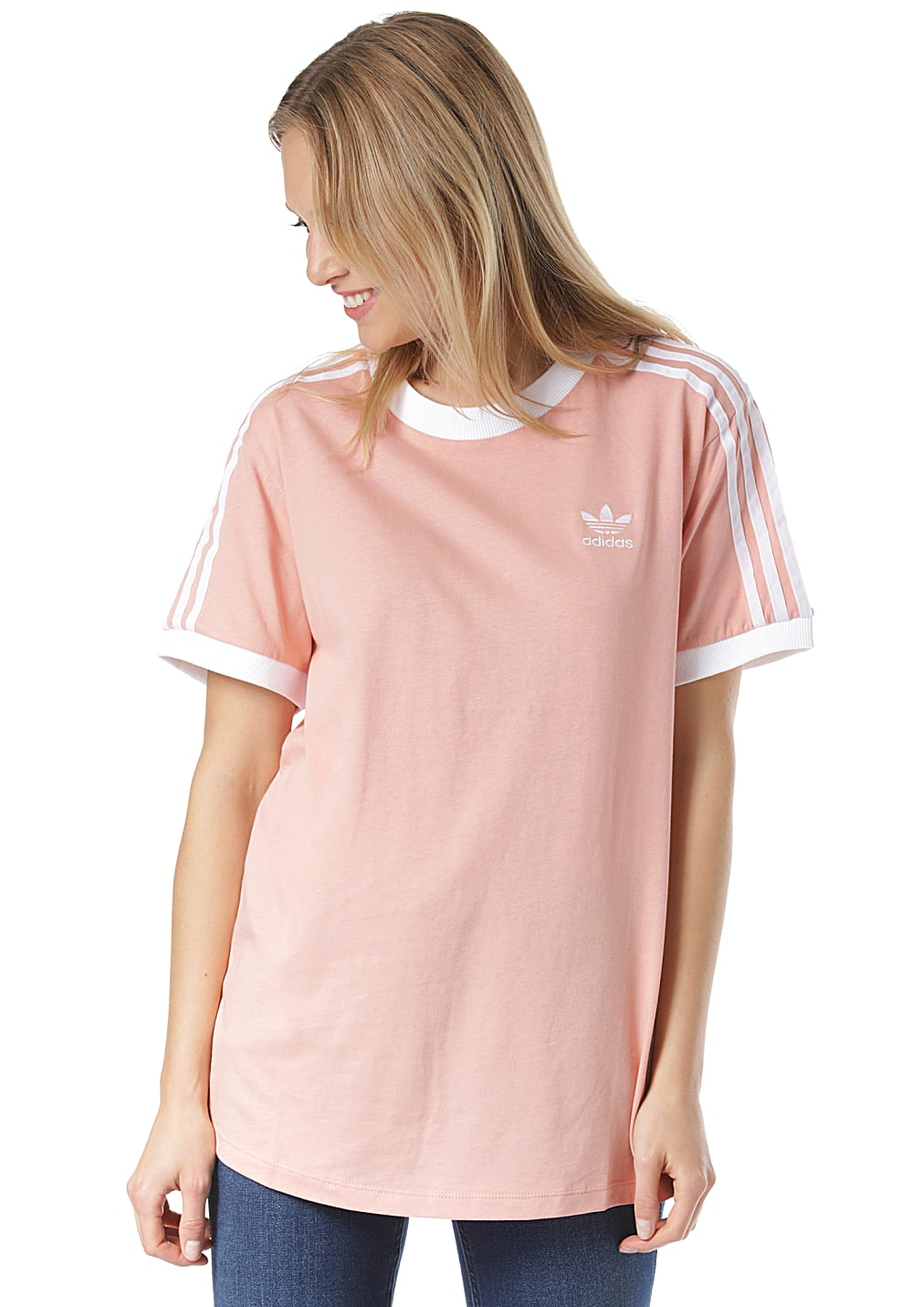 adidas Originals 3 Stripes - T-Shirt für Damen - Pink