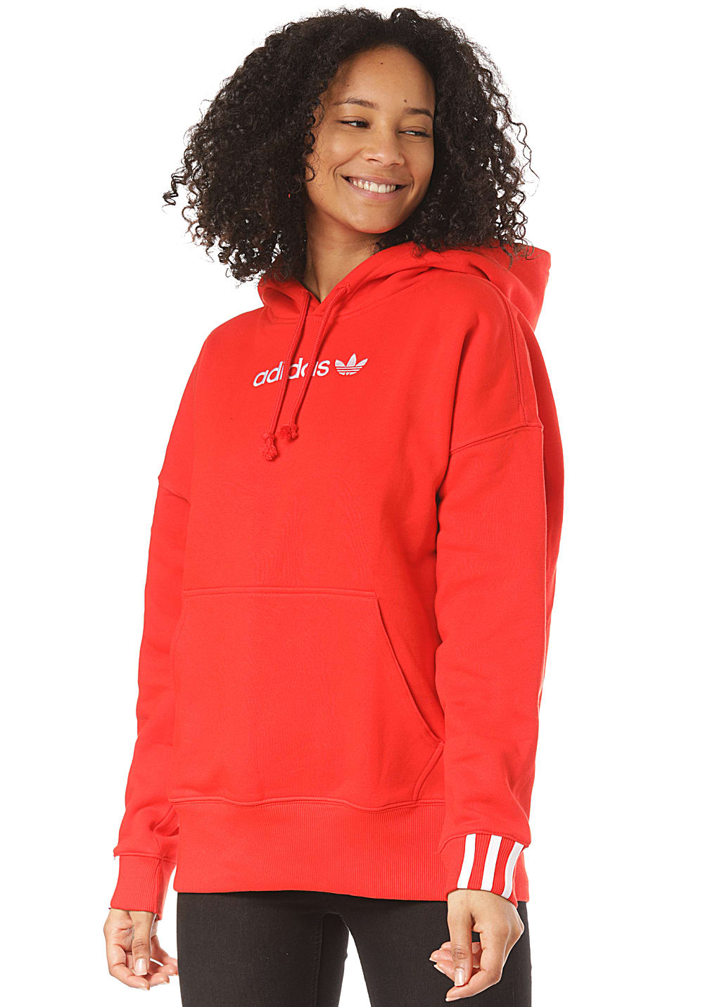adidas Coeeze Sweat Black Damen Oversize Sweatshirt Pullover