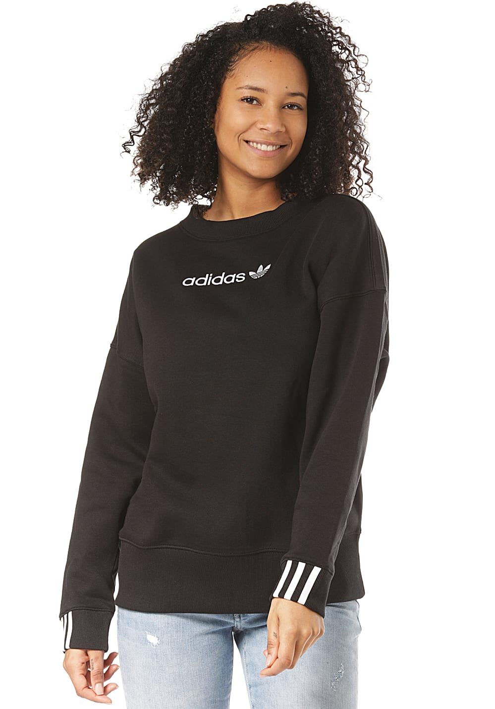 ba68348cfe6 adidas Originals Coeeze - Sweatshirt für Damen - Schwarz - Planet Sports