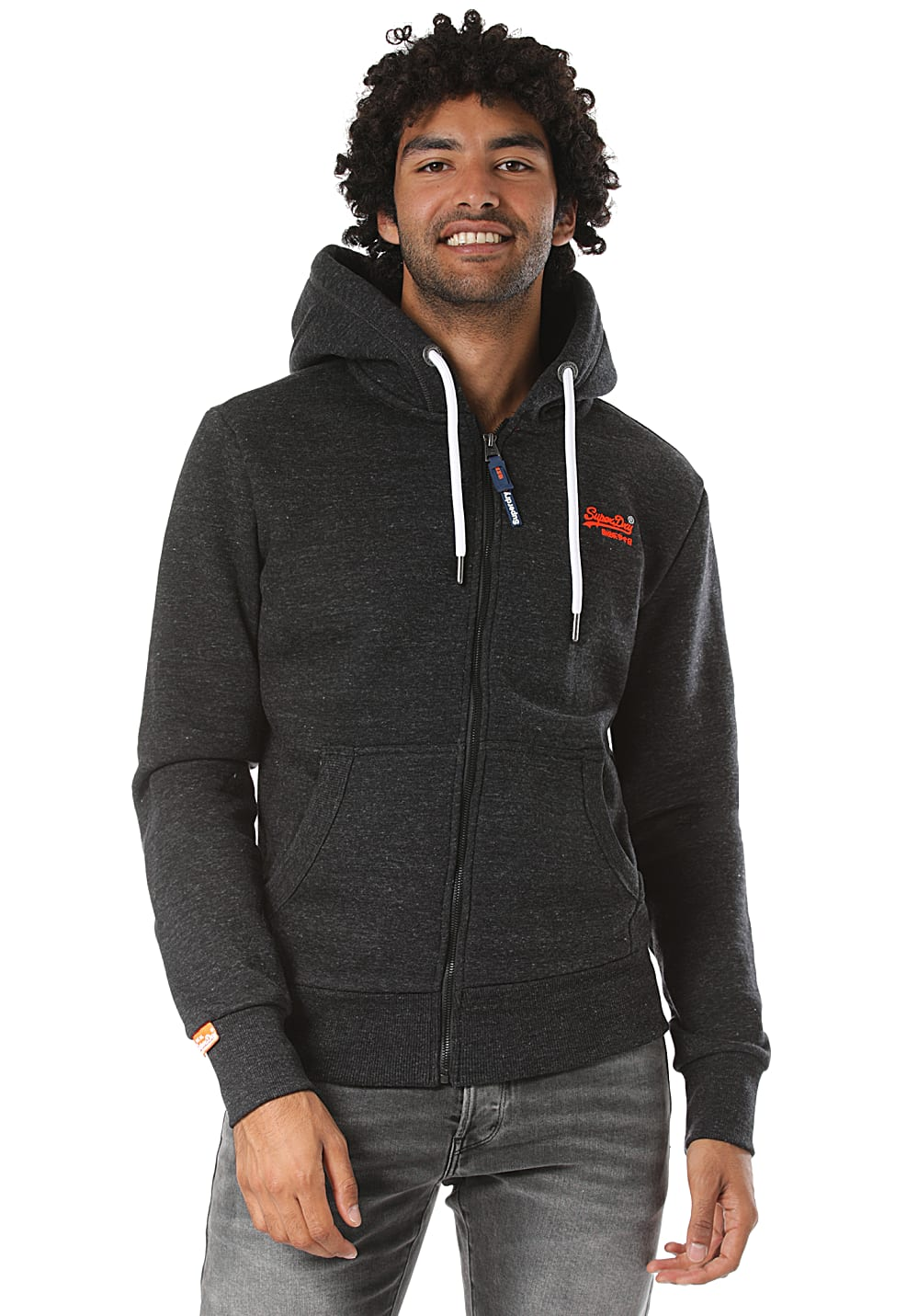 superdry orange label jacke schwarz