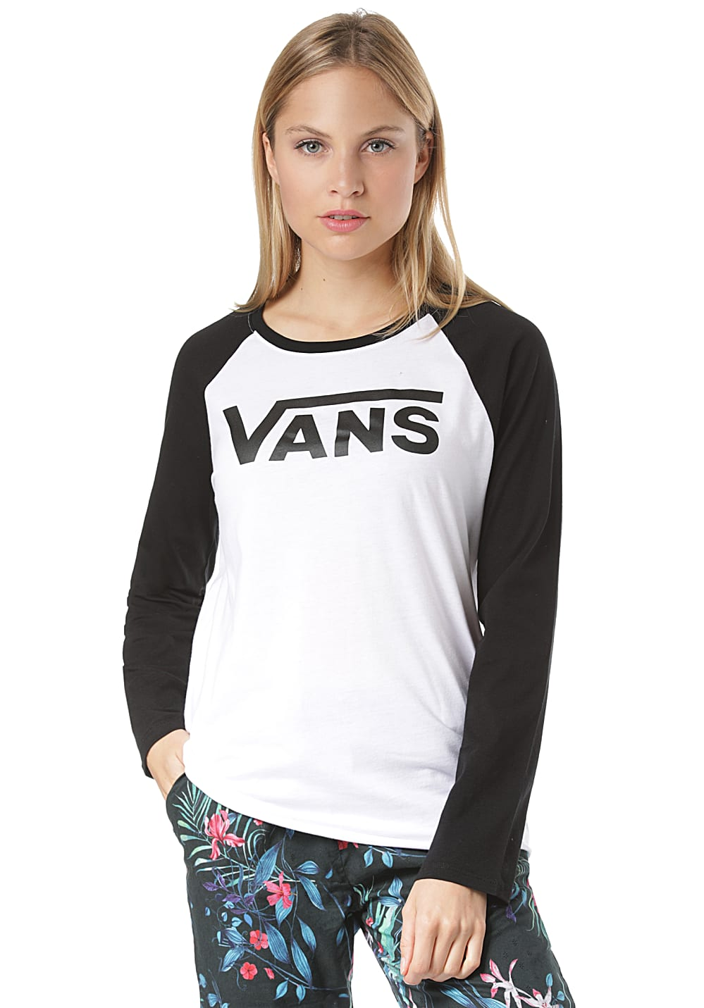 VANS Flying V Langarmshirt für Damen Weiß Planet Sports