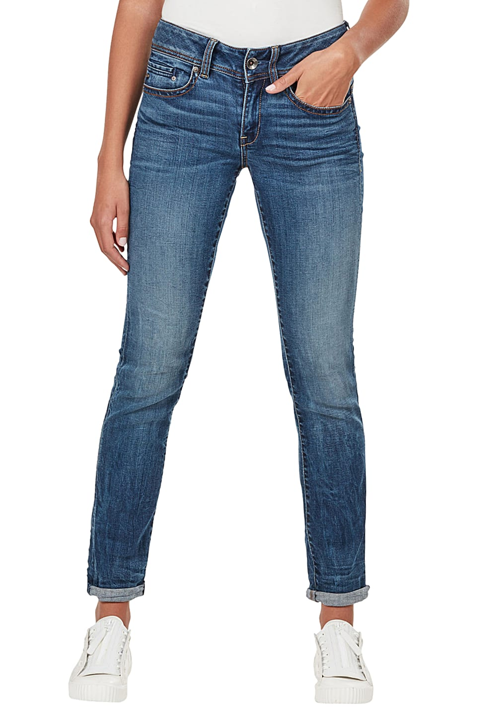 G STAR RAW Midge Saddle Mid Straight Jeans für Damen