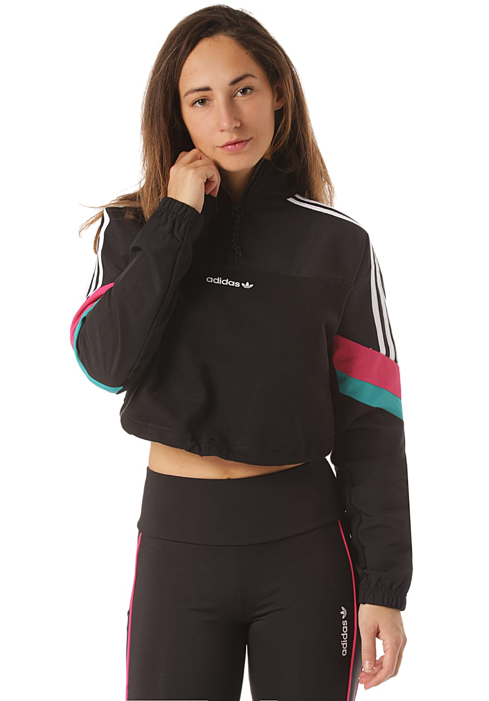 adidas Originals HZ Cropped Sweatshirt für Damen Schwarz