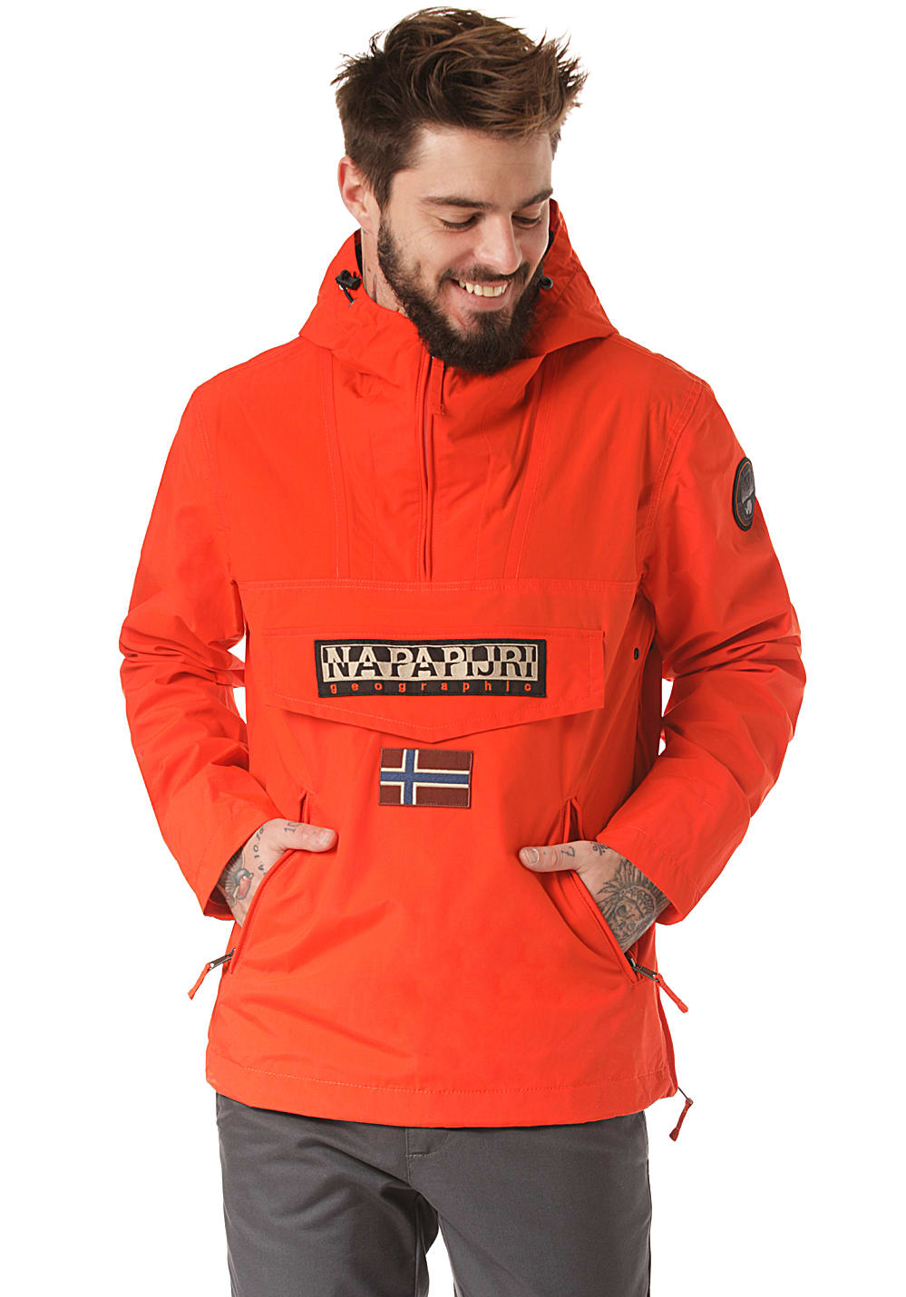 Napapijri Winterjacke Rainforest Winterjacken orange Herren