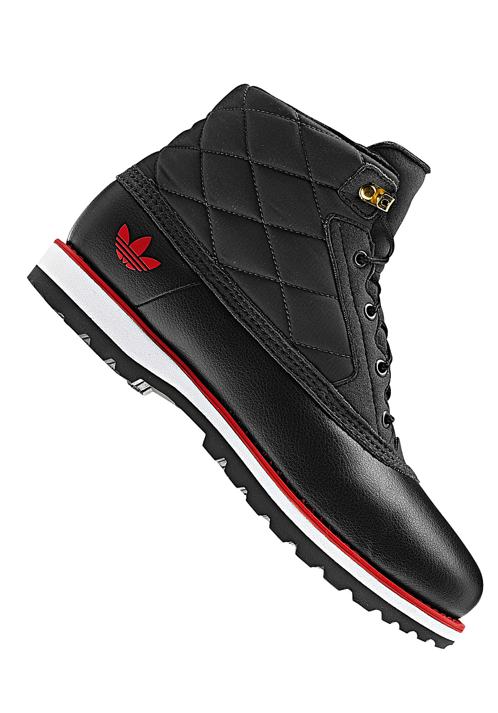 ADIDAS Adi Navy Quilt - Boots - Black - Planet Sports : adidas quilted boots - Adamdwight.com