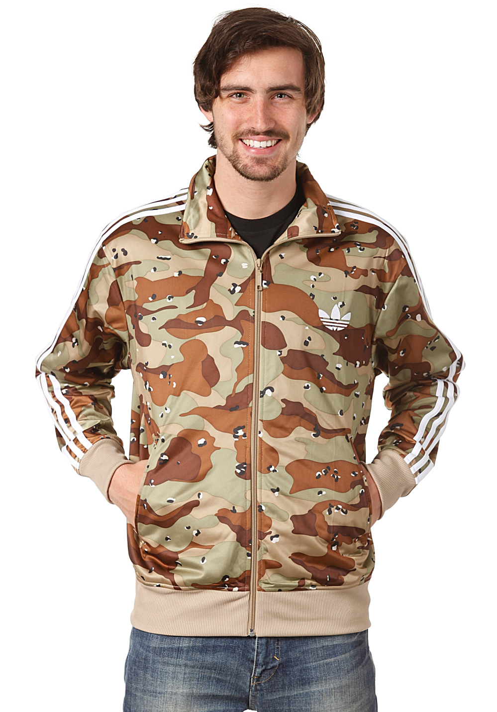 adidas adi camo firebird track top jacket track top for men green planet sports. Black Bedroom Furniture Sets. Home Design Ideas