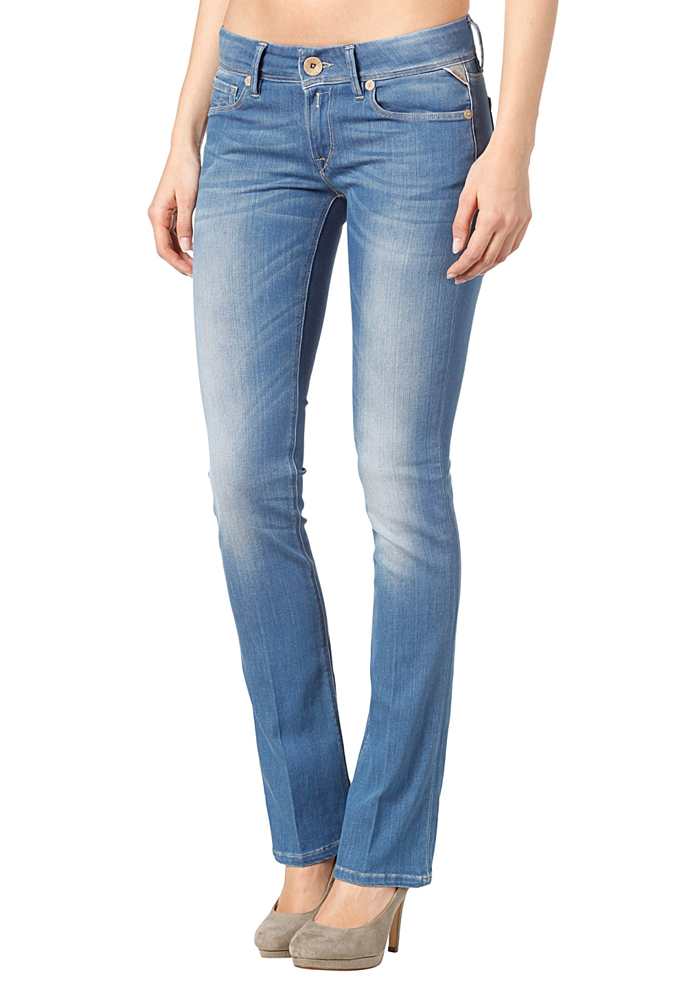 Replay Rearmy Slim Bootcut Jeans Pant - Denim Jeans for Women ...
