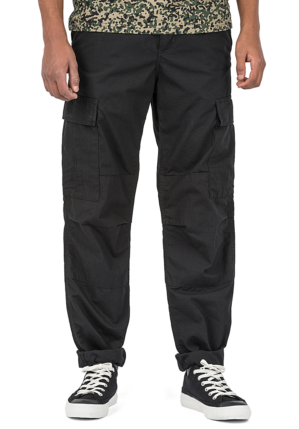 carhartt wip regular pantalon cargo pour homme noir planet sports. Black Bedroom Furniture Sets. Home Design Ideas