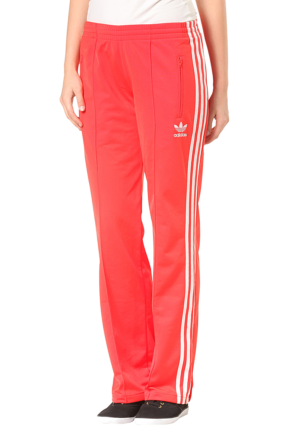 ADIDAS Firebird Sweat Pant - Trackpants for Women - Red - Planet Sports 82bc99f099