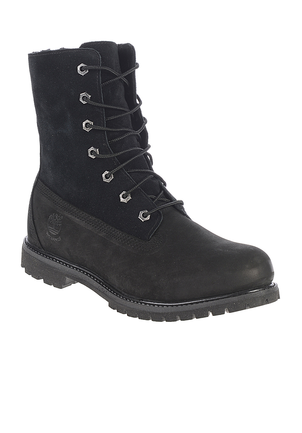 Timberland auth teddy fleece bottes pour femme noir planet sports - Botte timberland femme noir ...