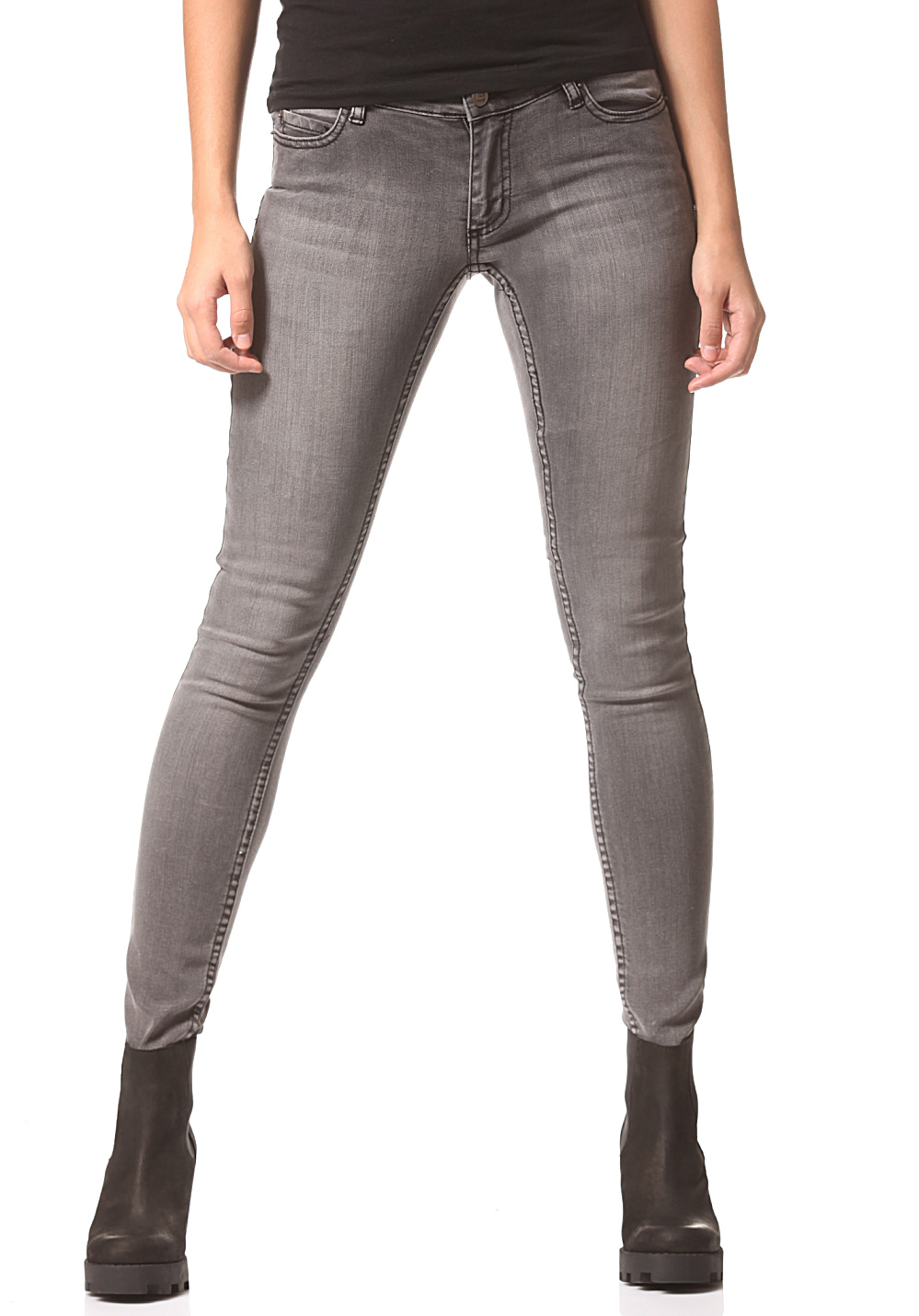 best Cheap MondaySlim - Denim Jeans for Women - Grey - www