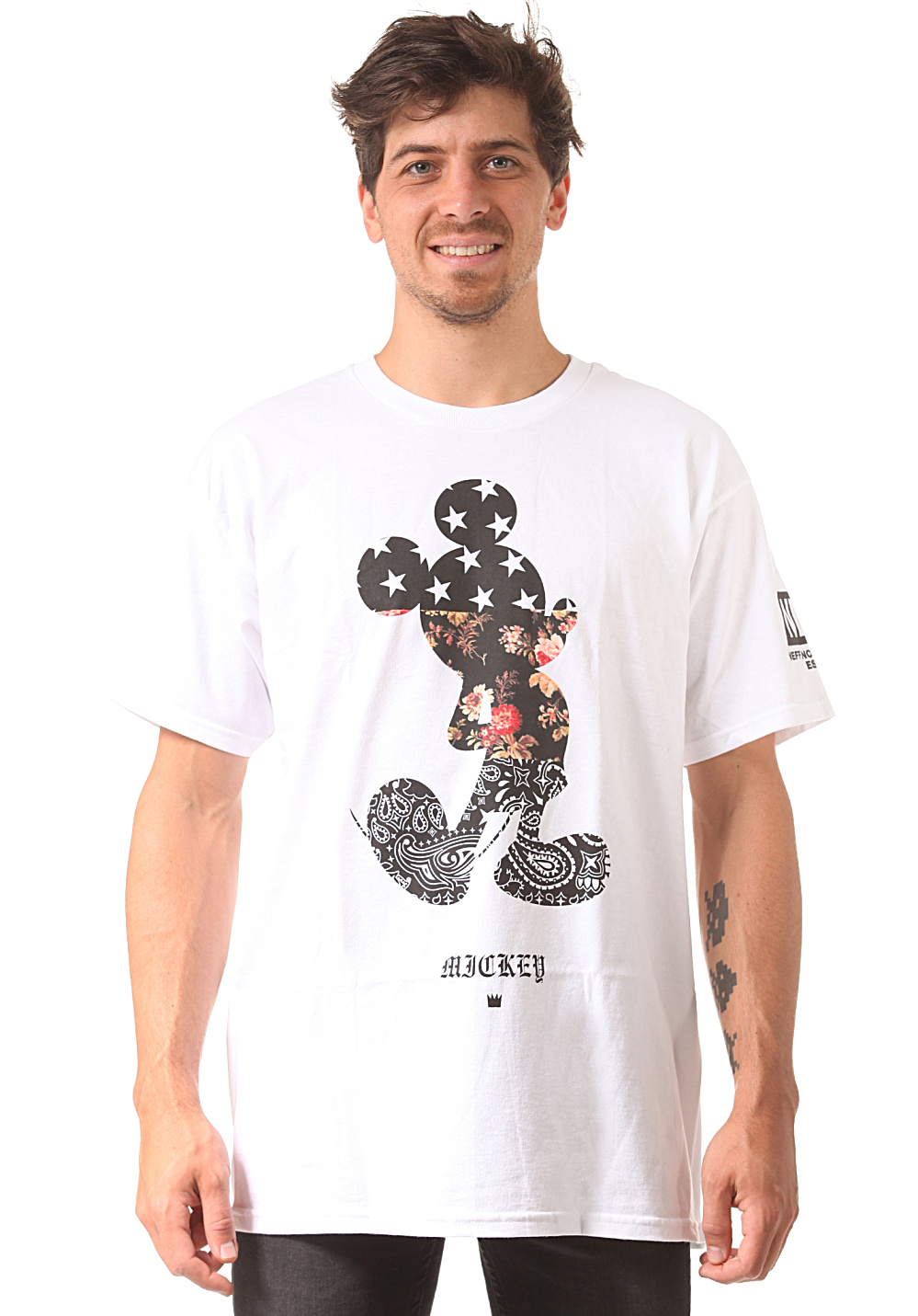 neff mickey swag disney colab t shirt pour homme blanc planet sports. Black Bedroom Furniture Sets. Home Design Ideas