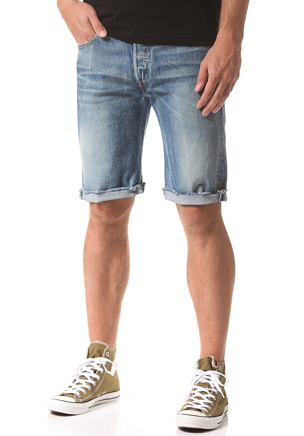 a91219ee Levi's 501 Cut Off - Shorts for Men - Blue - Planet Sports