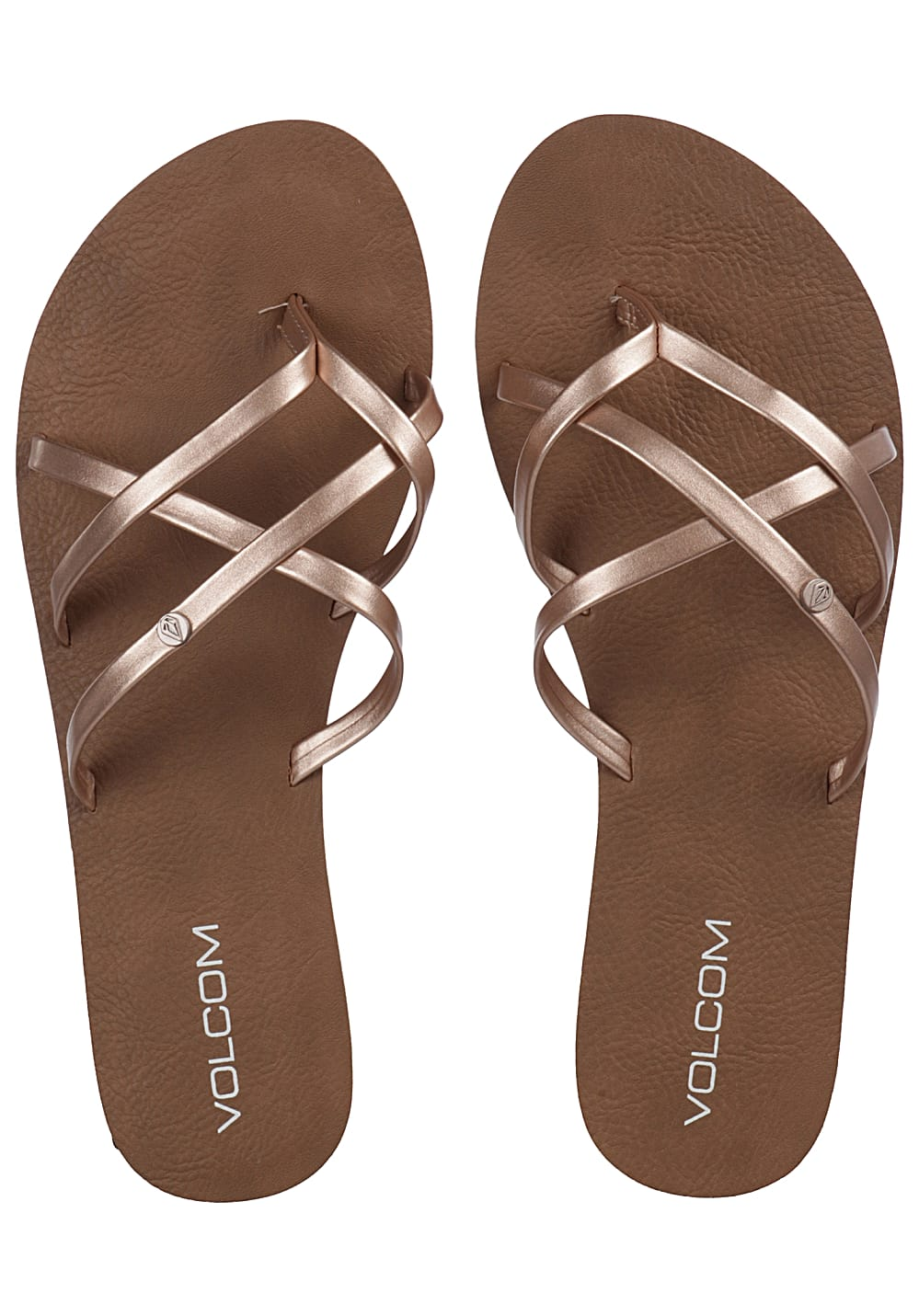9108e92ee99 Volcom New School - Sandals for Women - Gold - Planet Sports
