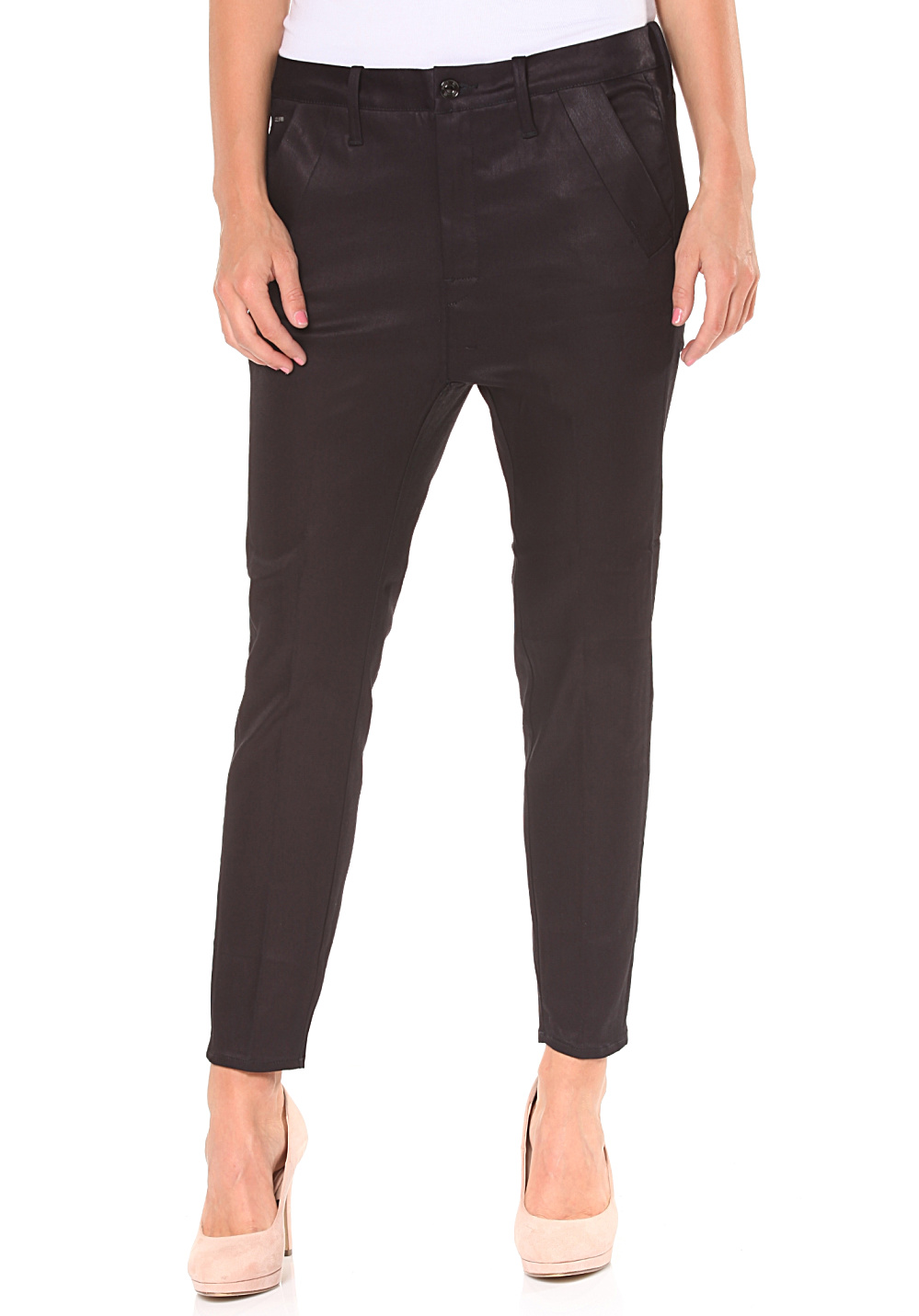G-Star Brsn Low Bf Chn-Cilex Marine Superstretch - Jeans für Damen - Schwarz -