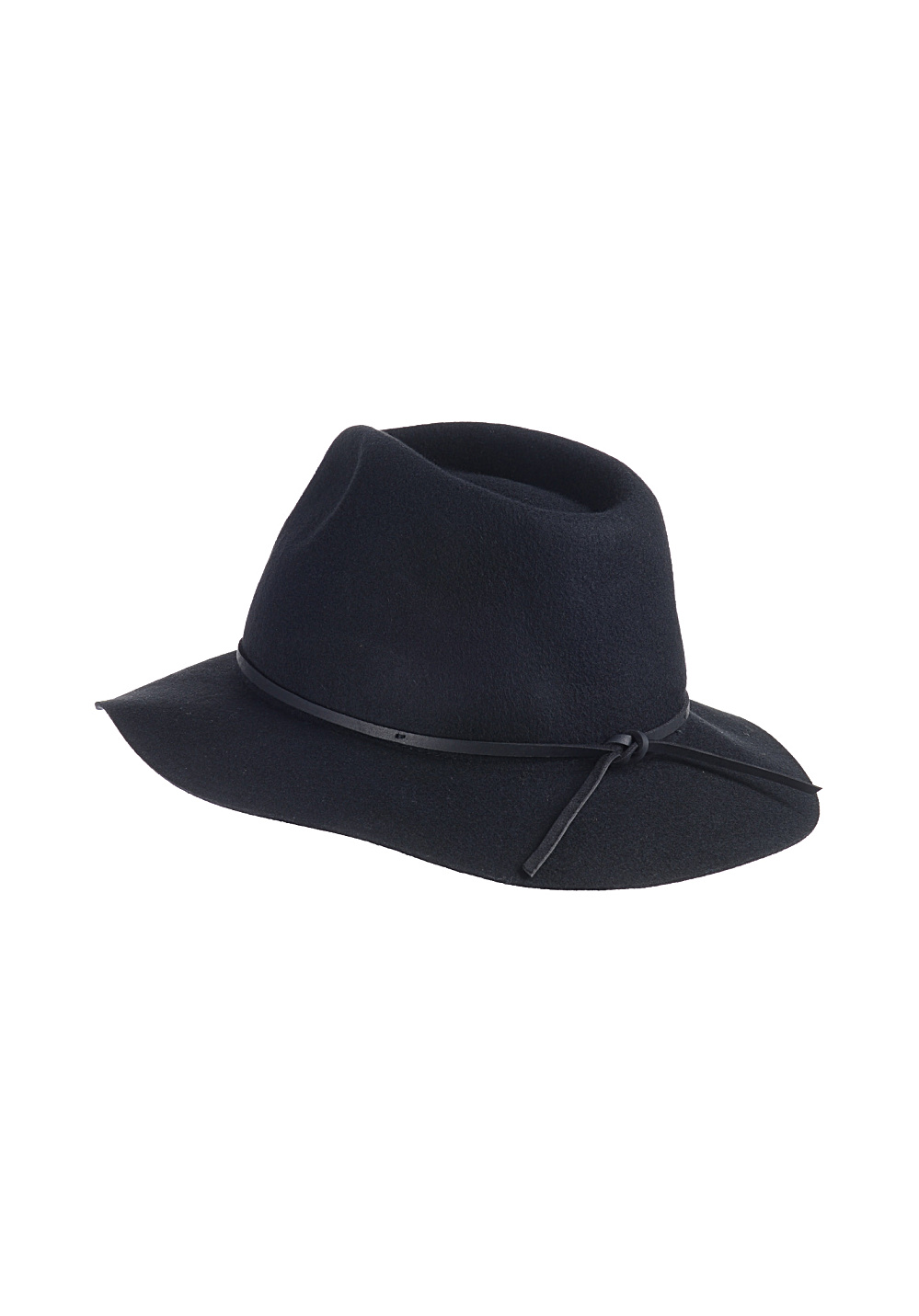 8d97887a BRIXTON Wesley Fedora - Hat - Black - Planet Sports