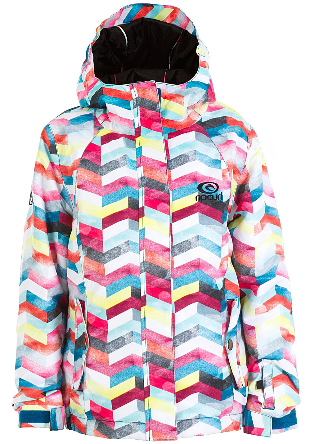 Multicolore Betty Pour Rip Veste De Curl Printed Snowboard Fille q85xaO