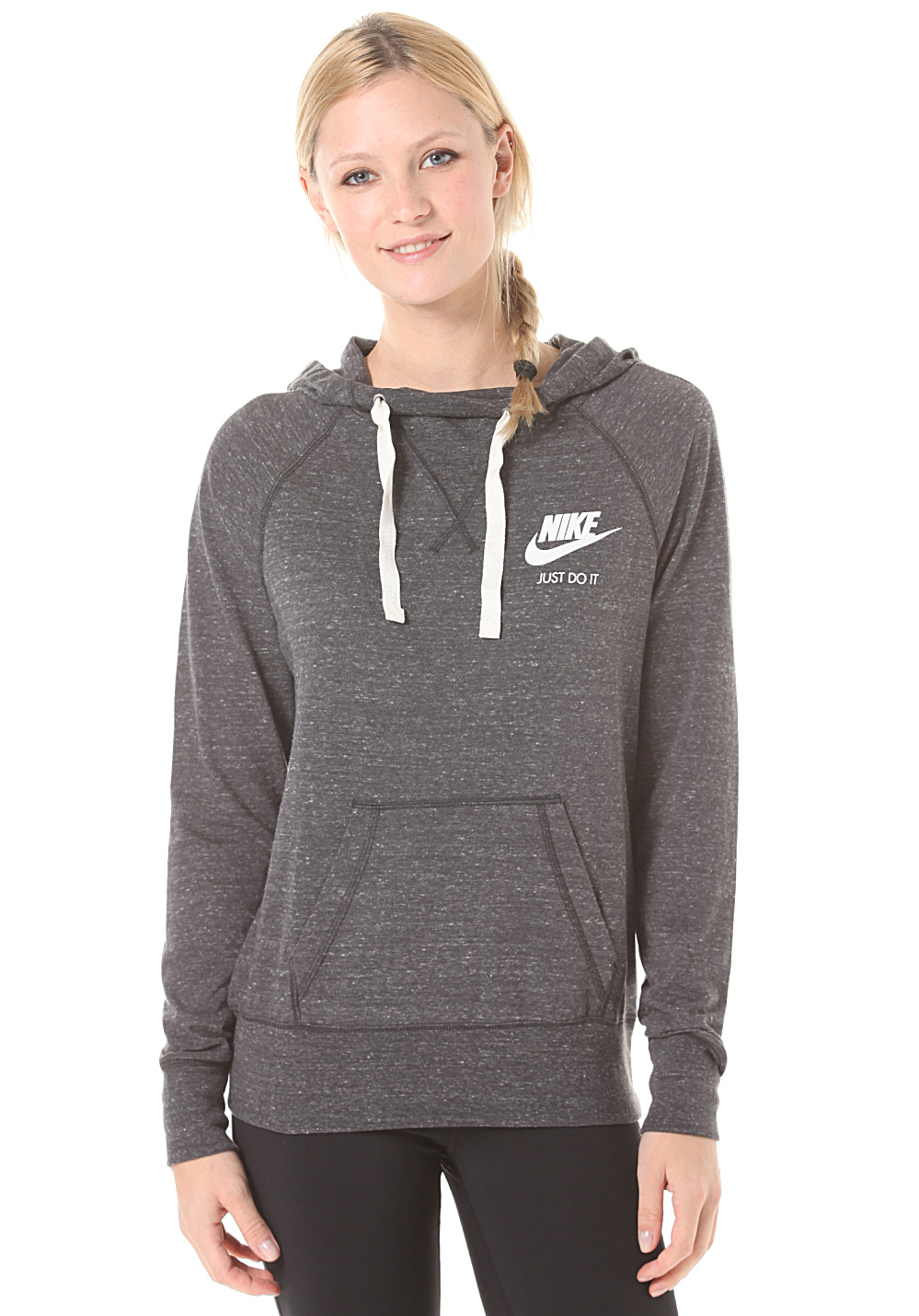 nike sportswear gym vintage sweat capuche pour femme noir planet sports. Black Bedroom Furniture Sets. Home Design Ideas
