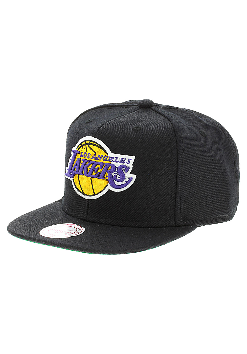 Mitchell   Ness Wool Solid LA Lakers - Snapback Cap - Black - Planet ... cf7c9dce5a5