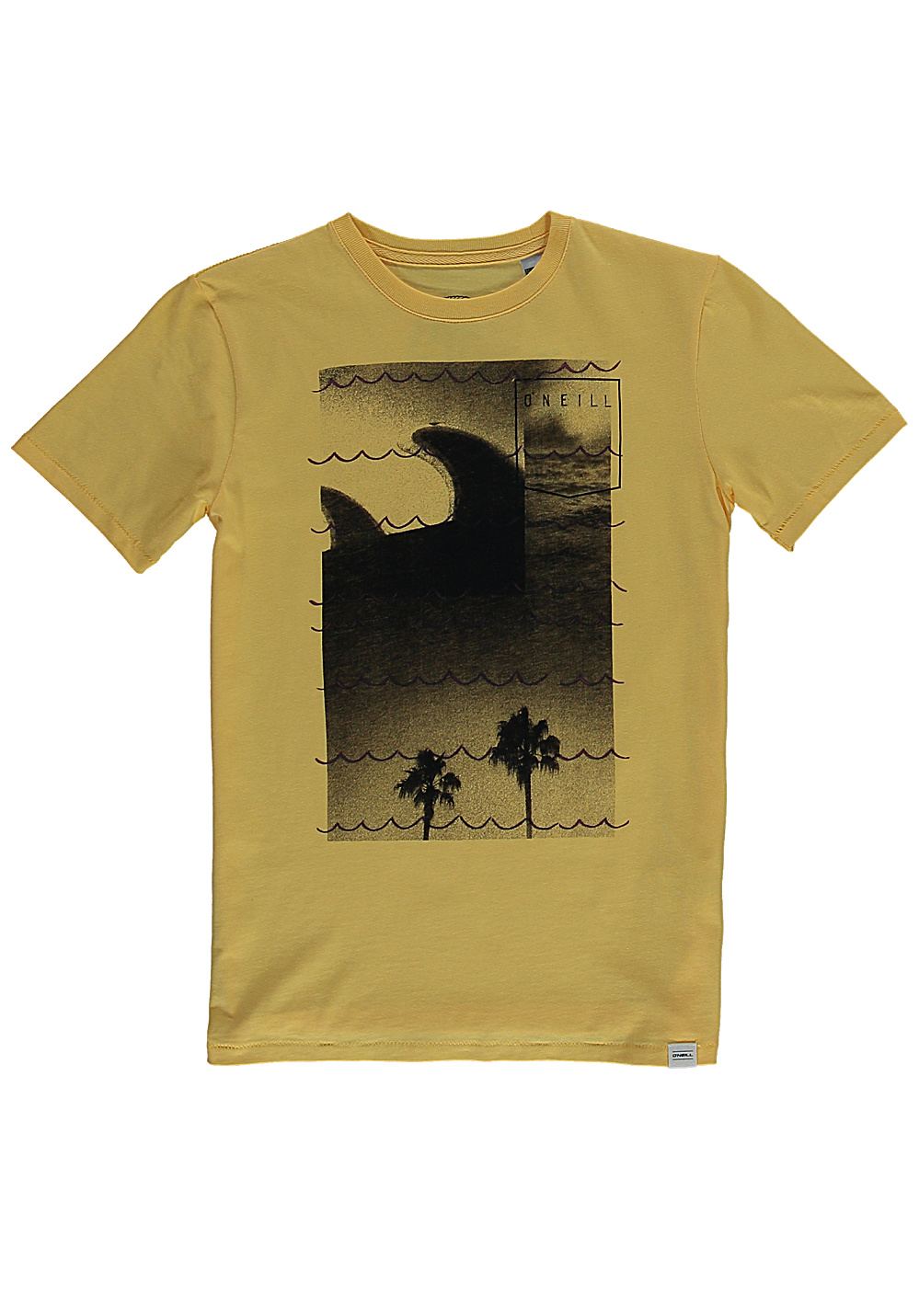 O 39 neill fins out t shirt for kids boys yellow planet for Yellow t shirt for kids