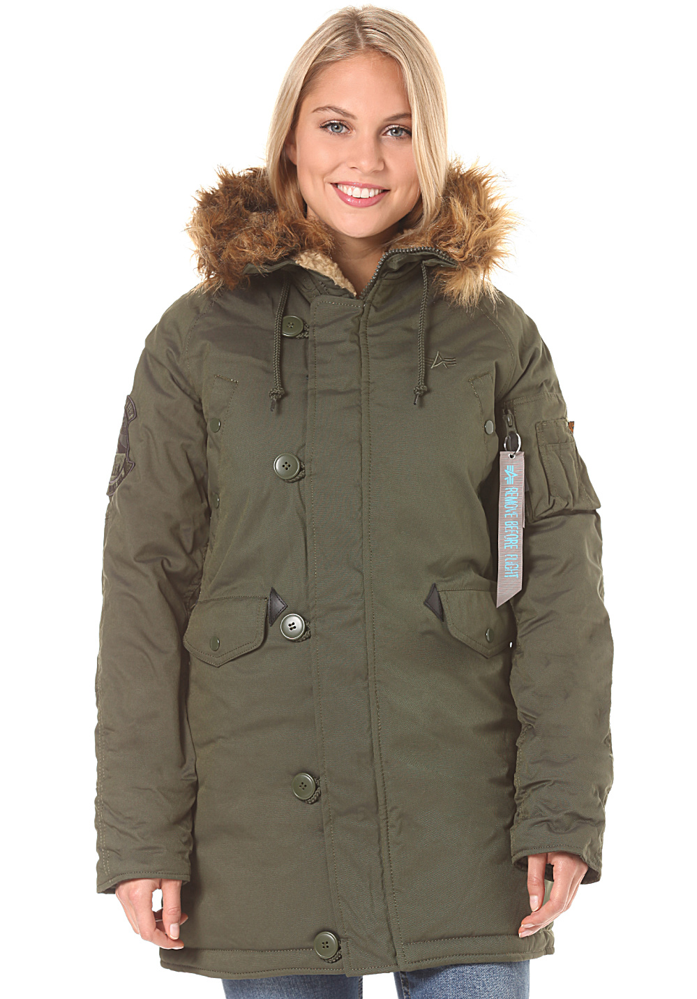 super popular 47f4b 820ff ALPHA INDUSTRIES Explorer - Jacket for Women - Green