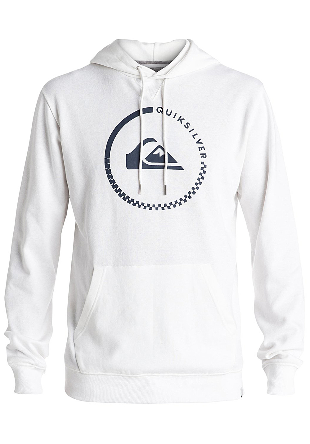 quiksilver big logo sweat capuche pour homme blanc planet sports. Black Bedroom Furniture Sets. Home Design Ideas