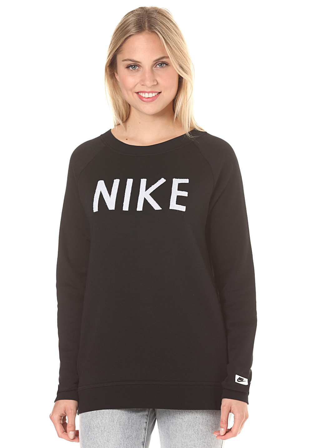 nike sportswear modern crew sweat pour femme noir planet sports. Black Bedroom Furniture Sets. Home Design Ideas