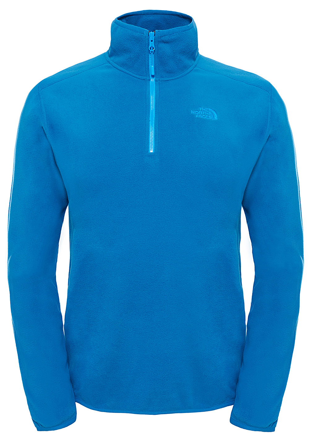 the north face 100 glacier 1 4 zip pulls de randonn e pour homme bleu planet sports. Black Bedroom Furniture Sets. Home Design Ideas