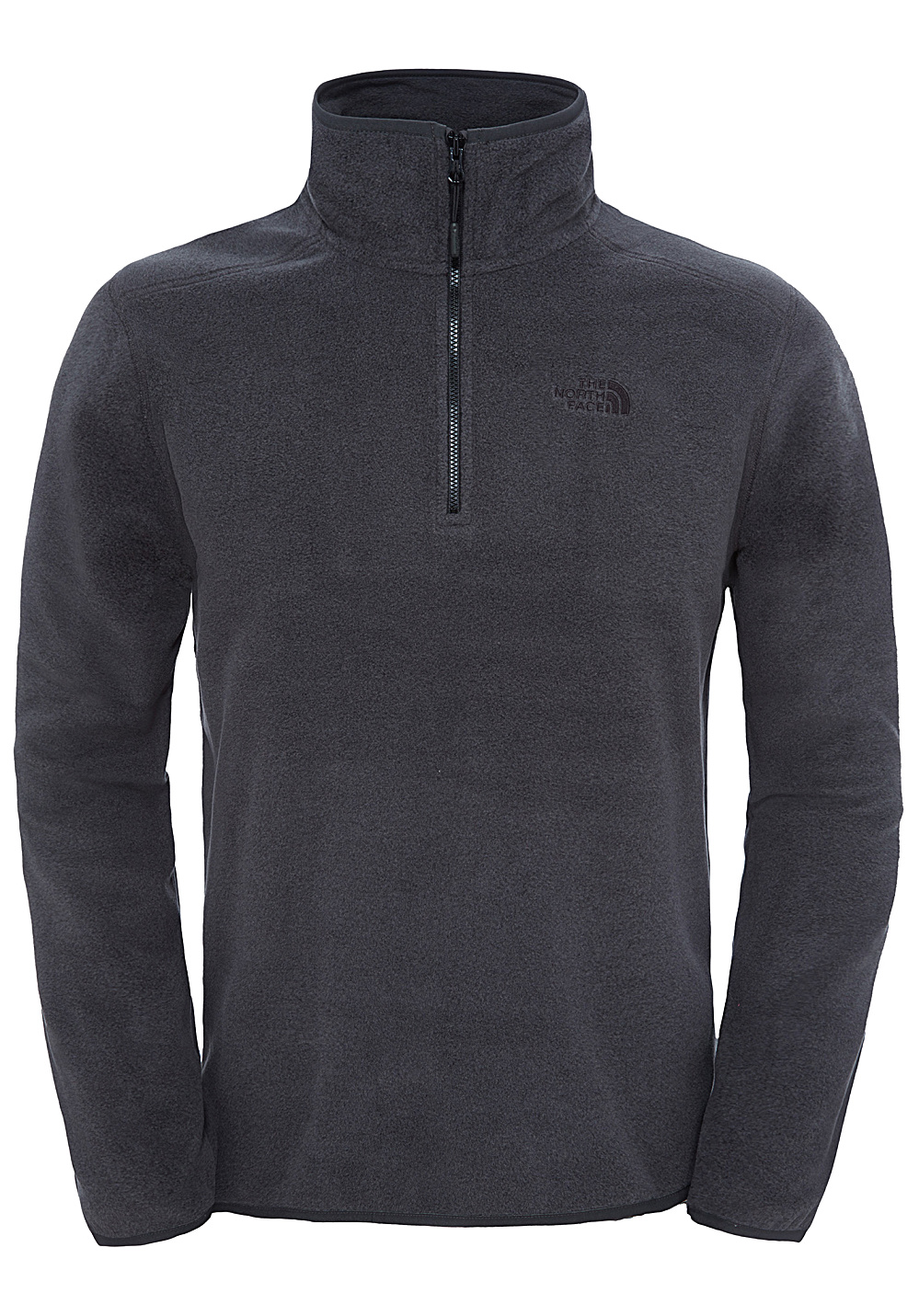the north face 100 glacier 1 4 zip pulls de randonn e pour homme gris planet sports. Black Bedroom Furniture Sets. Home Design Ideas