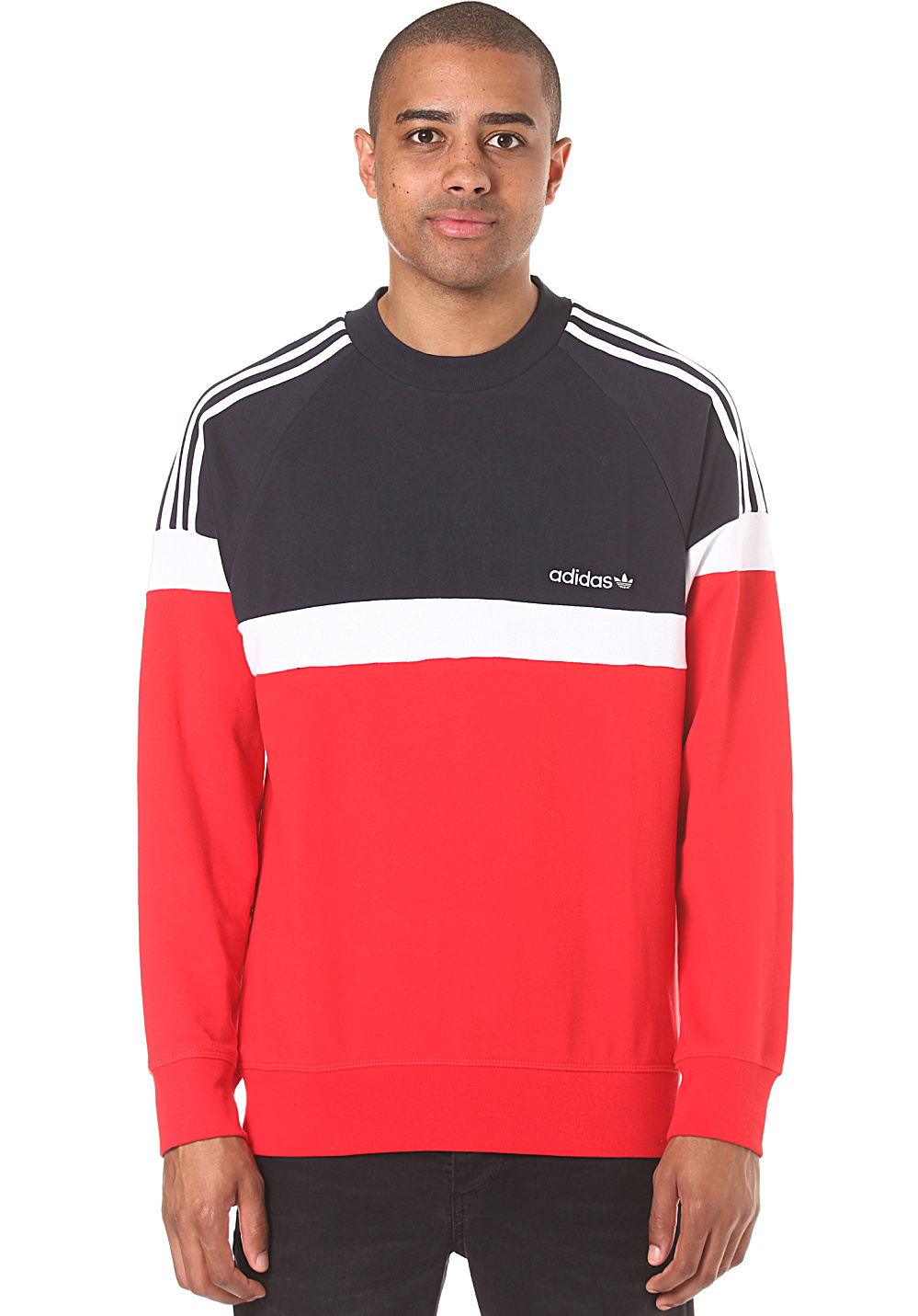 adidas itasca crew sweat pour homme rouge planet sports. Black Bedroom Furniture Sets. Home Design Ideas