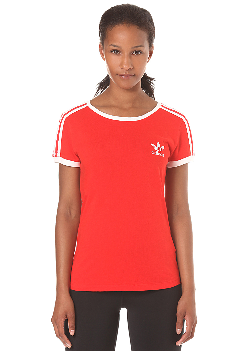 adidas sandra 1977 t shirt for women red planet sports. Black Bedroom Furniture Sets. Home Design Ideas