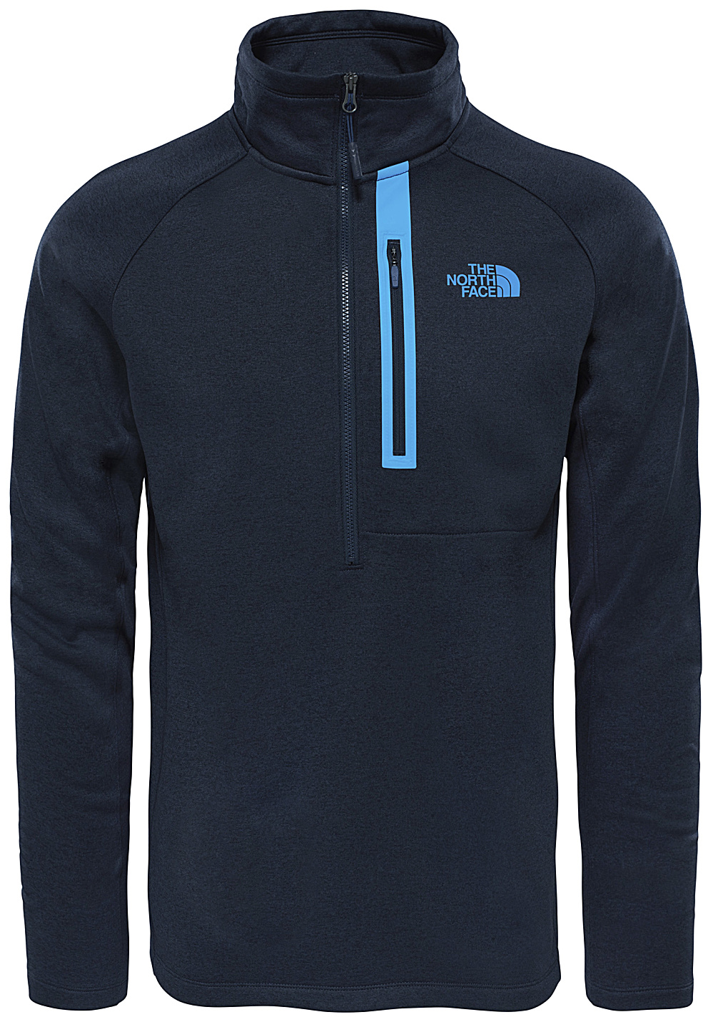 the north face canyonlands 1 2 zip pulls de randonn e pour homme bleu planet sports. Black Bedroom Furniture Sets. Home Design Ideas