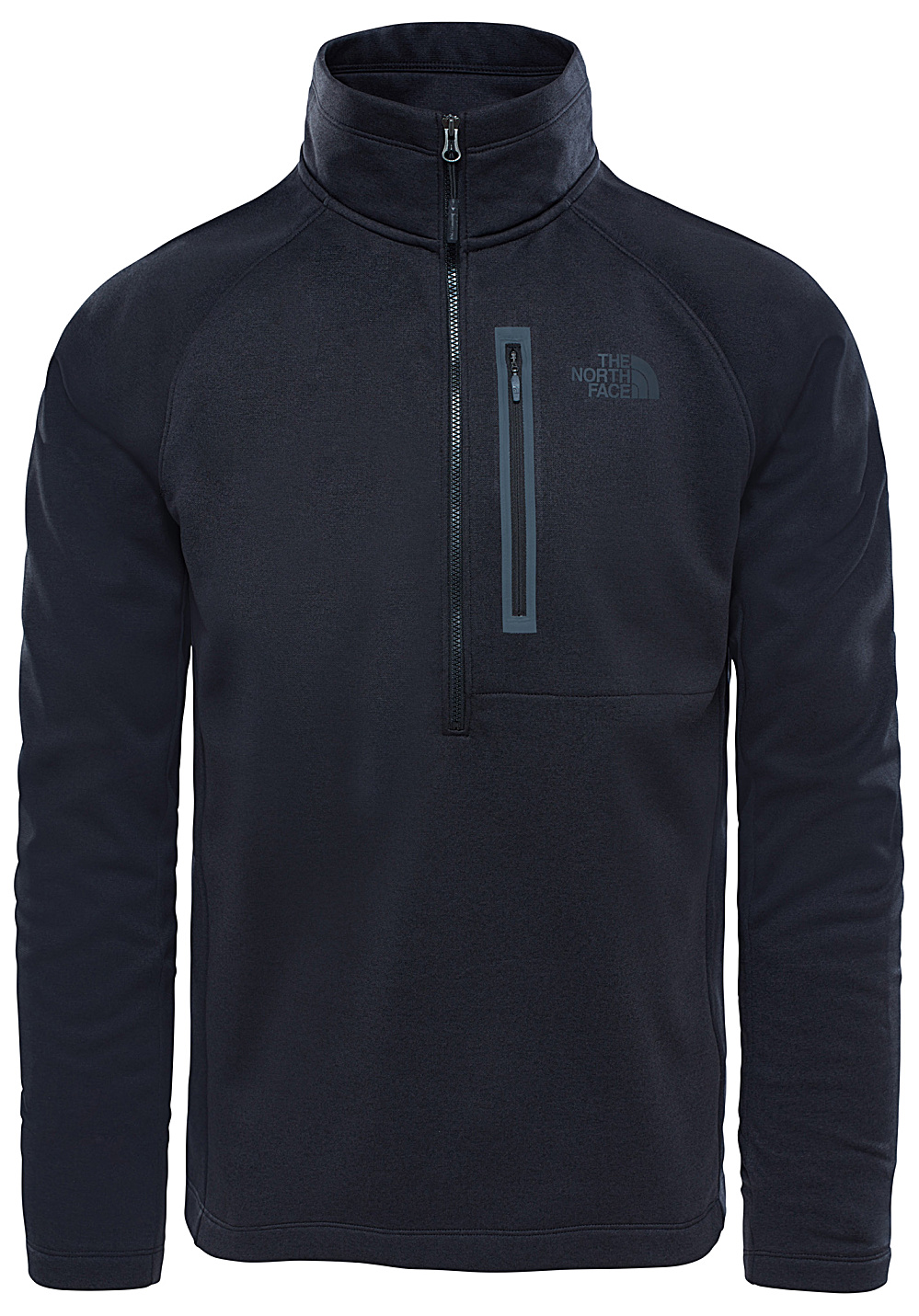 the north face canyonlands 1 2 zip pulls de randonn e pour homme noir planet sports. Black Bedroom Furniture Sets. Home Design Ideas
