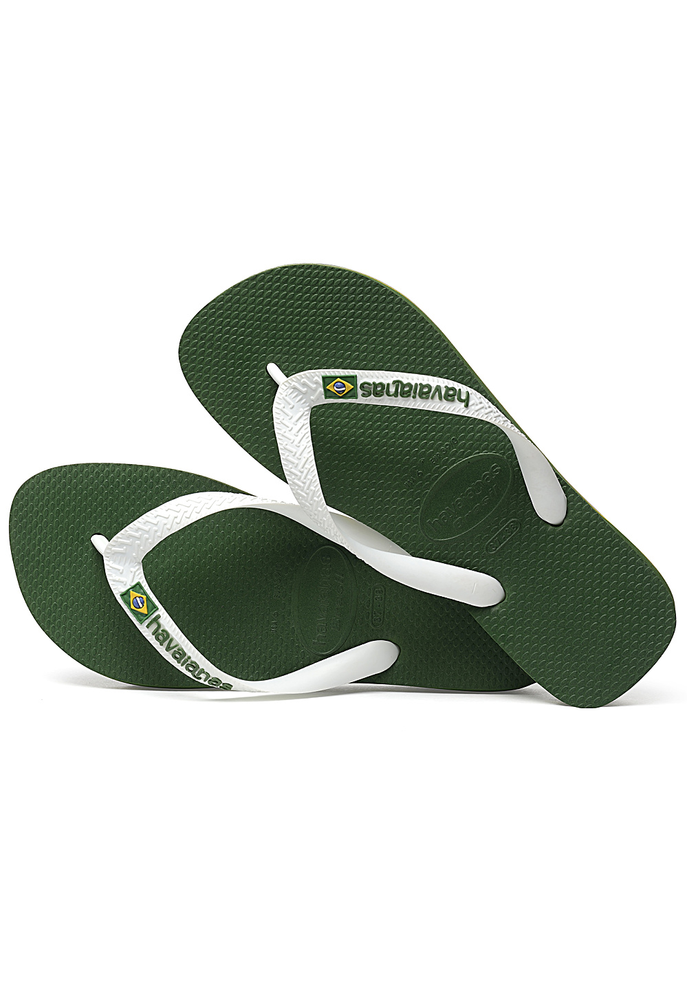 7d0fae87246f3 HAVAIANAS Brasil Logo - Sandals - Green - Planet Sports