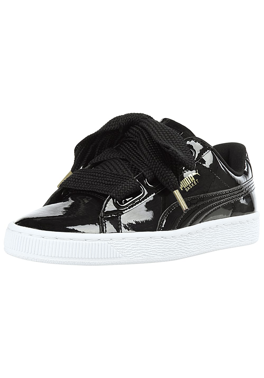 Puma Basket Heart Patent - Sneakers for Women - Black - Planet Sports 009ee4cf3b