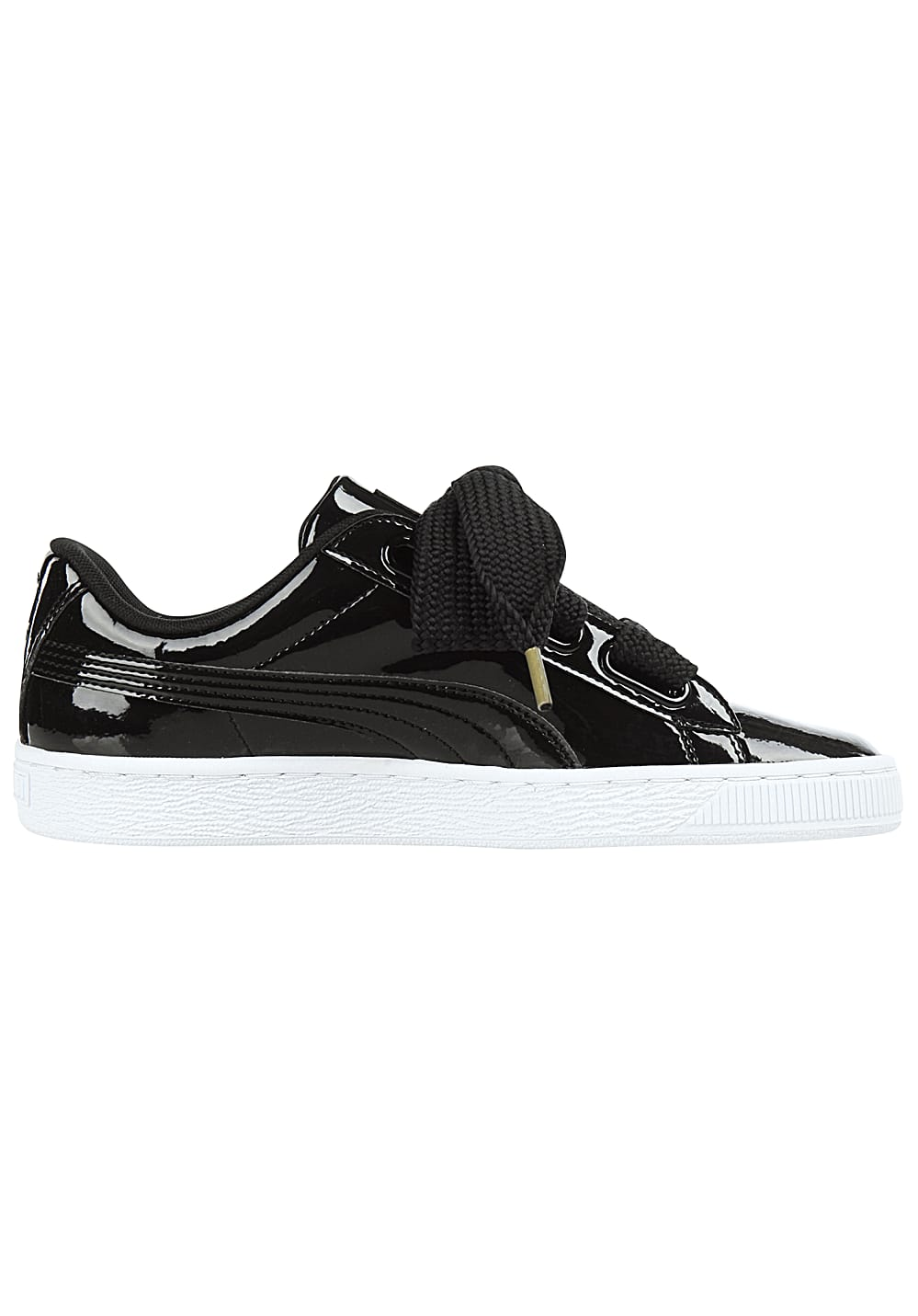 Next. Puma. Basket Heart Patent - Sneakers for Women. €86.47. incl. VAT  plus shipping costs. Black White c21bd87537