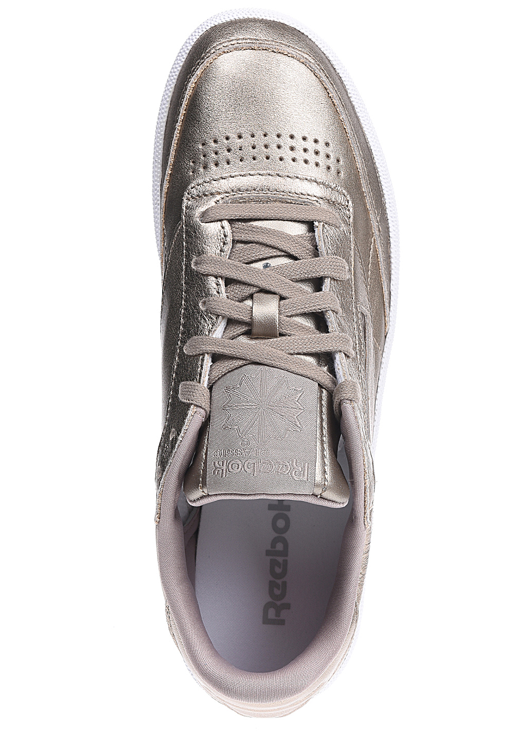 Reebok Club C 85 Melted Metal Sneakers for Women Gold