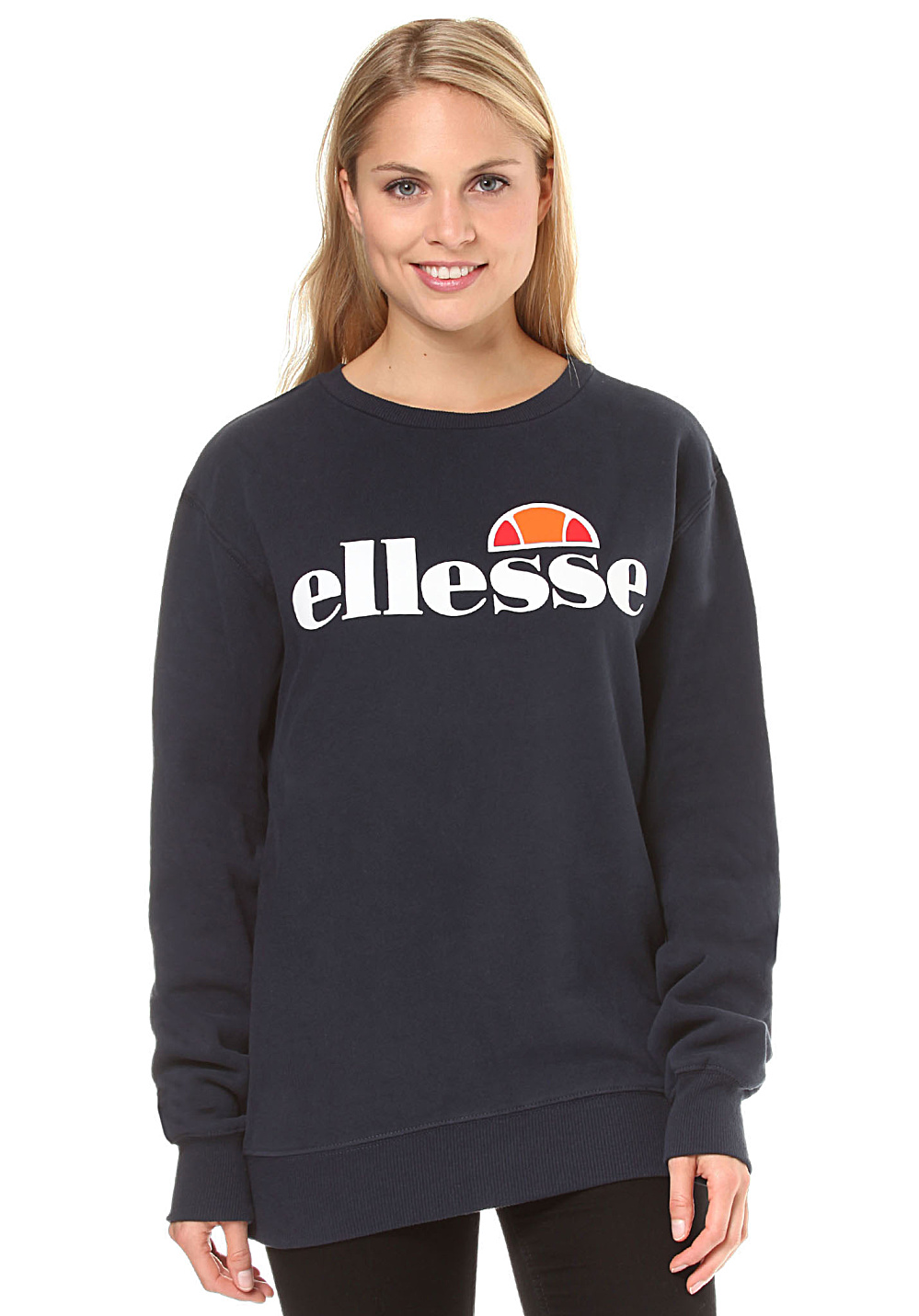 ellesse agata crew sweat pour femme bleu planet sports. Black Bedroom Furniture Sets. Home Design Ideas