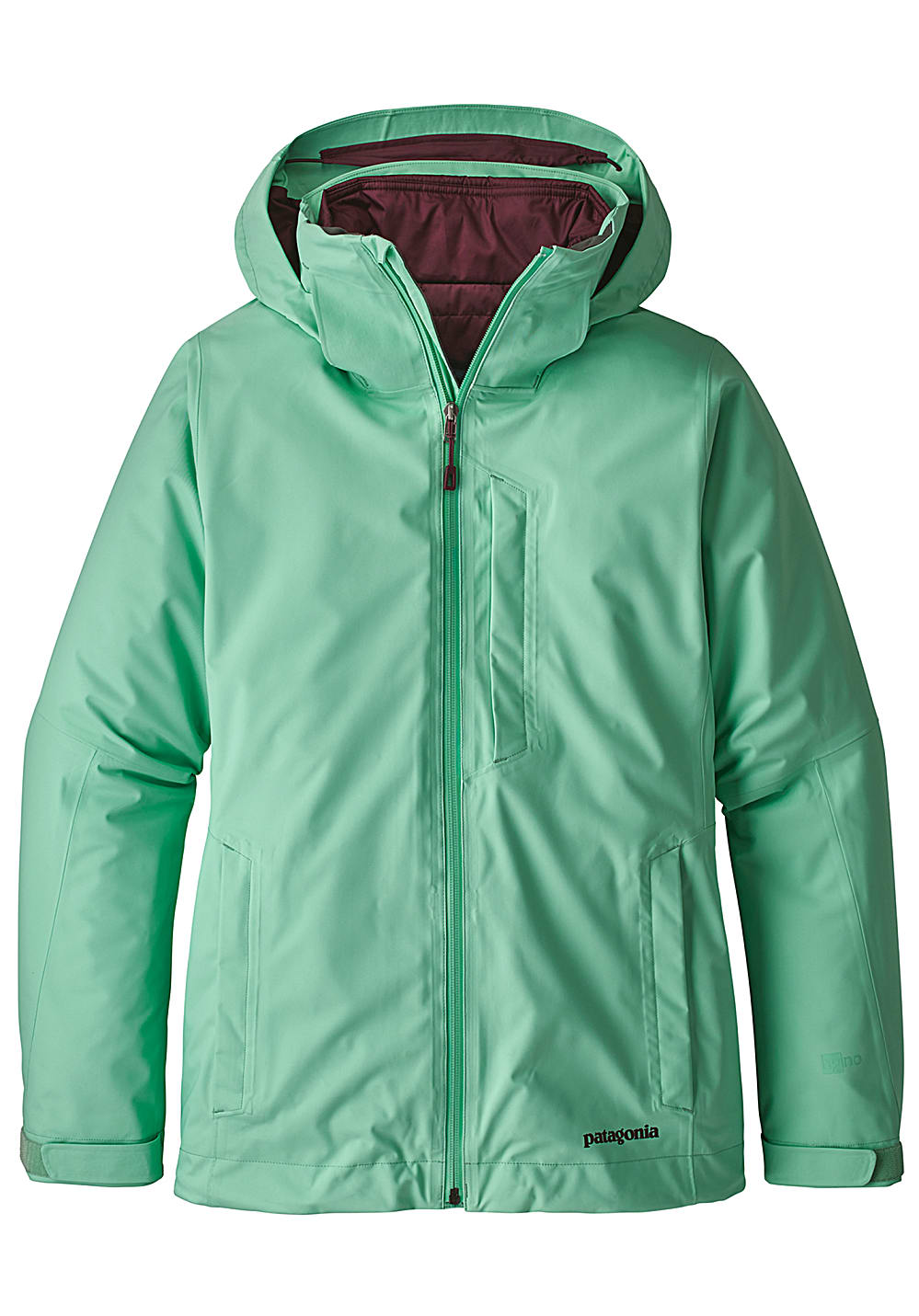 PATAGONIA 3-in-1 Snowbelle - Ski Jacket for Women - Green - Planet ... 3c23c79ad