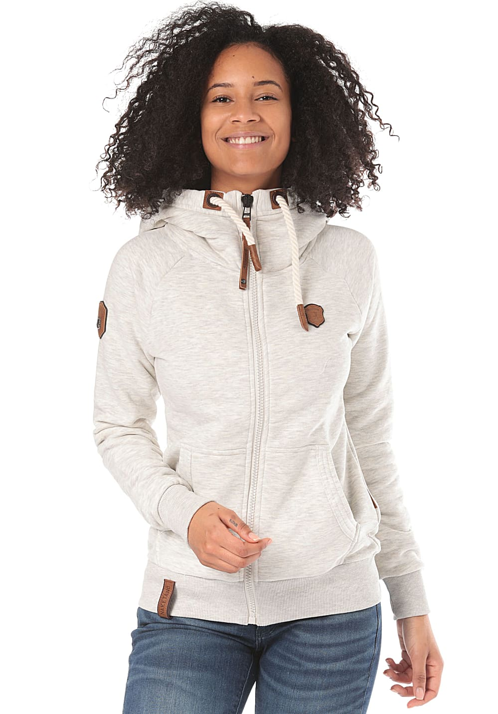 NAKETANO Brazzo Doofmann Hooded Jacket for Women Beige