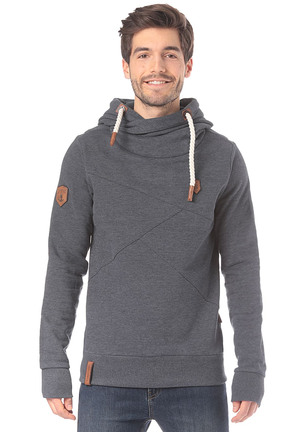 NAKETANO Lennox Hooded Sweatshirt for Men Blue