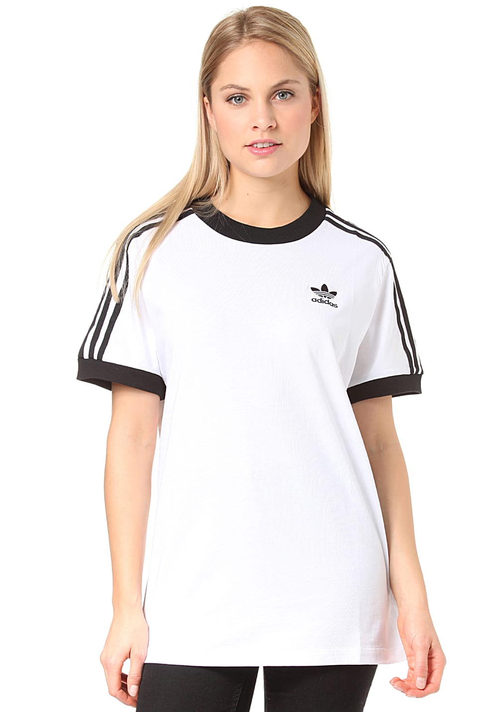 ADIDAS ORIGINALS 3 Stripes T shirt voor Dames Wit