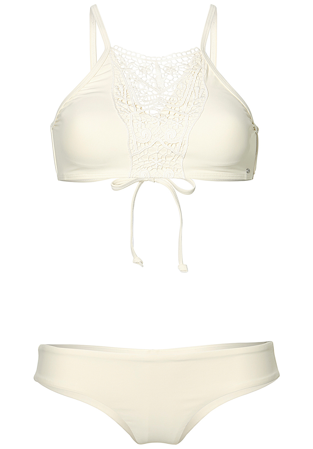 best prices meticulous dyeing processes 60% discount O'Neill Lace High Neck - Bikini Set for Women - White